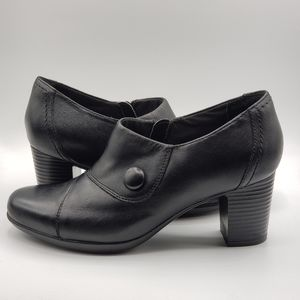 Clarks leather, bendables, black, size 8.5, shoes